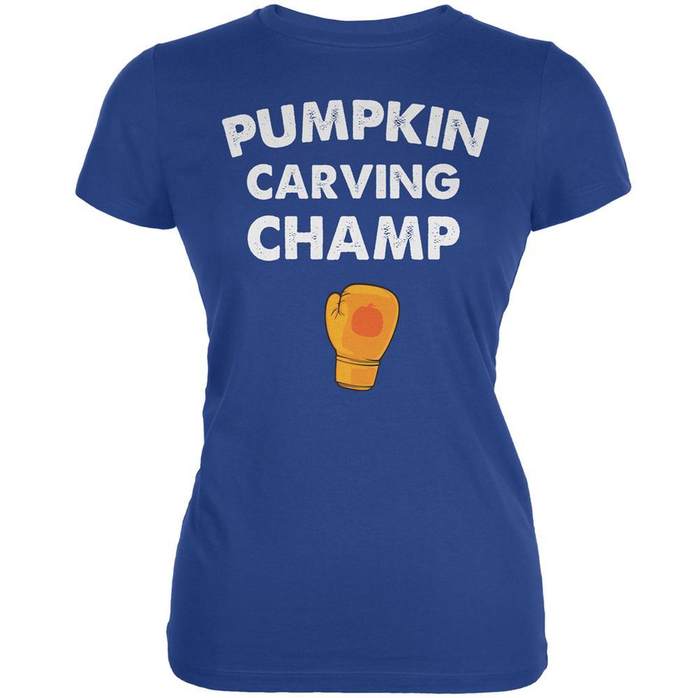 Halloween Pumpkin Carving Champ Royal Juniors Soft T-Shirt