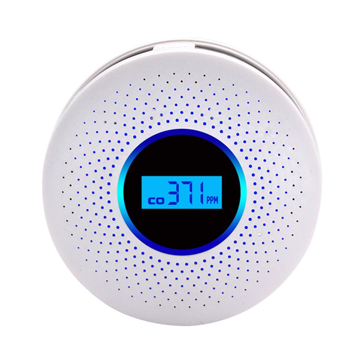 2 in 1 Carbon Monoxide&Smoke Alarm Smoke Fire Sensor Alarm CO Carbon Monoxide Detector Sound Combo Sensor Tester Battery Operated with Display for CO Level Black FridaySale