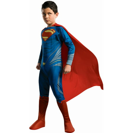 Superman Man Of Steel Costume Child - Superman Costume For Kids