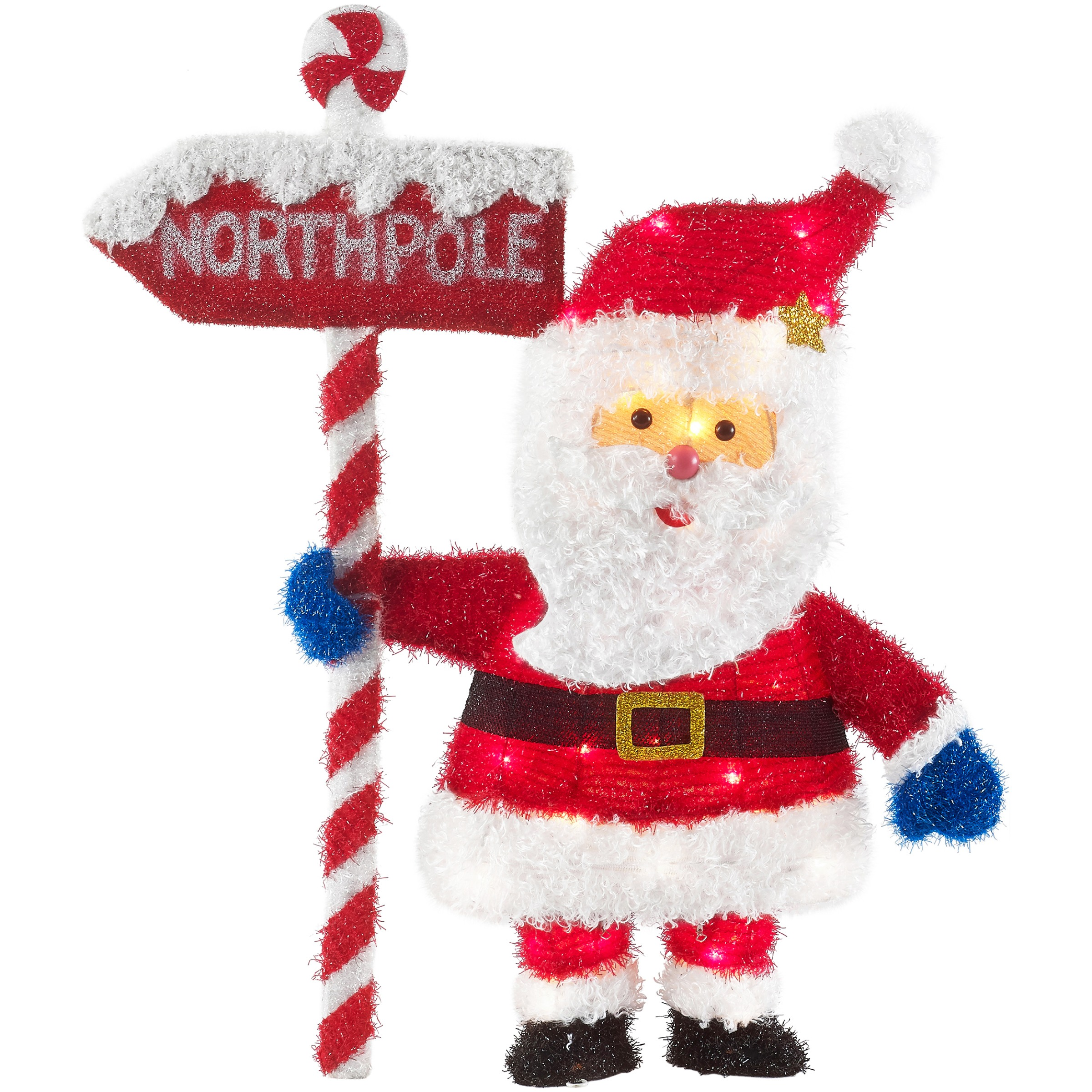 Holiday Time 32-Inch Light-Up Santa, Signature Suit with 35 Lights