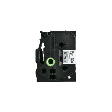 """Zoomtoner Compatible for Brother PT2300 BROTHER P-Touch Label Tape TZE-M961 36mm (1.5"""") Black on Matte Silver - image 1 of 1"""