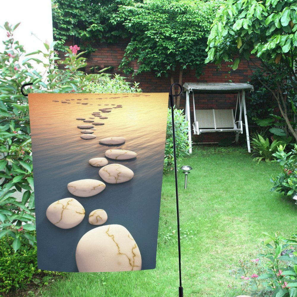 Charmant MYPOP Nice Step Stones In The Evening Sea Garden Flag For Patio, Lawn And  Garden