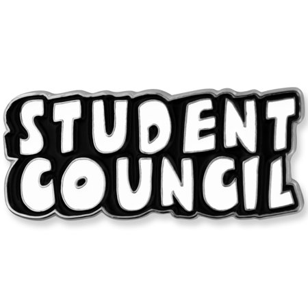 Black and White Student Council Word School Teacher Enamel Lapel - Student Lapel Pin