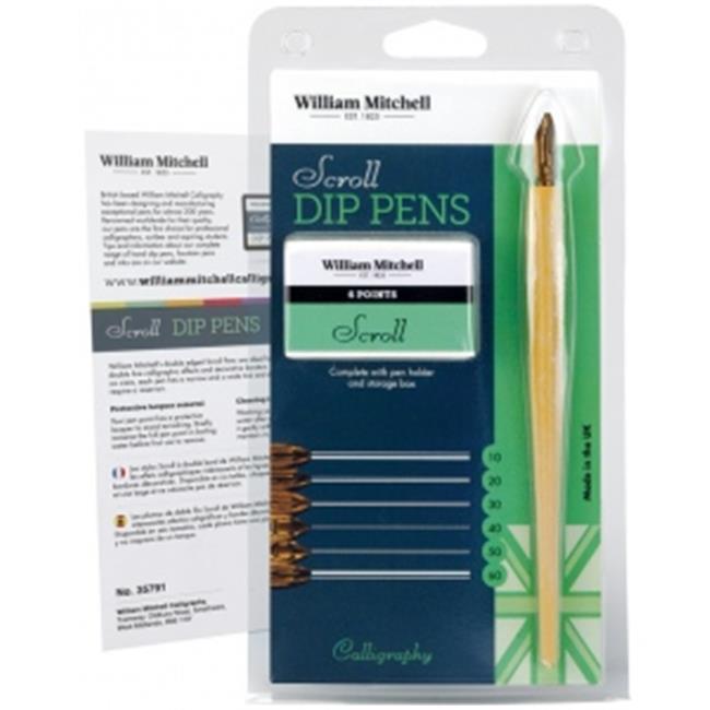 William Mitchell Calligraphy WM35791 Scroll Dip Pen Set - image 1 de 1
