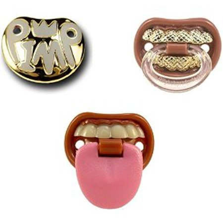 Billy Bob Baby Pacifier 3 Pack Baby With Attitude Pimp