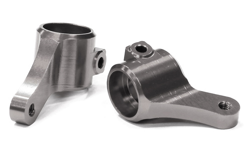 Integy RC Toy Model Hop-ups T8675GREY Billet Machined Steering Knuckles for 1 10 Traxxas... by Integy