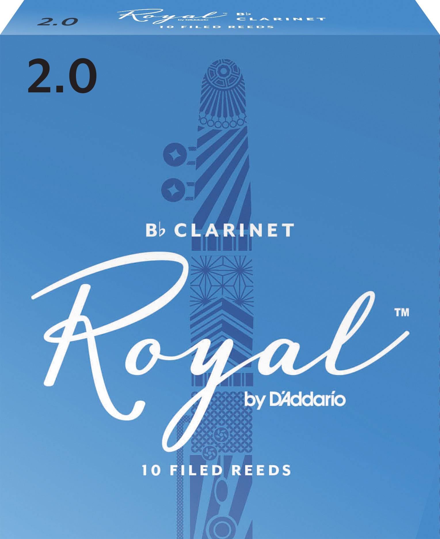 D/'Addario Rico Royal Clarinet Reeds Bb #2.0 Ten Box RCB1020