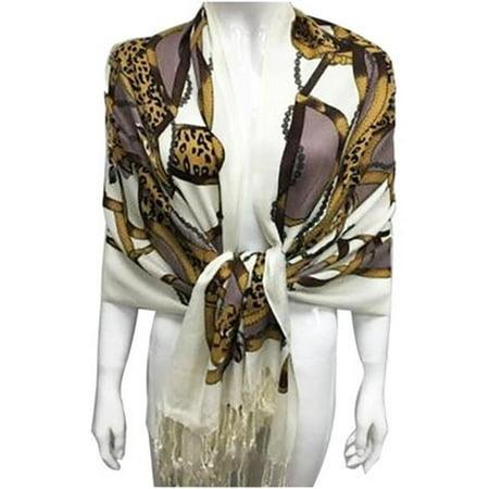 Art Fashions of Europe YSP8-2 Nouveaut- Pashmina - Marron avec Marron Clair - image 1 de 1