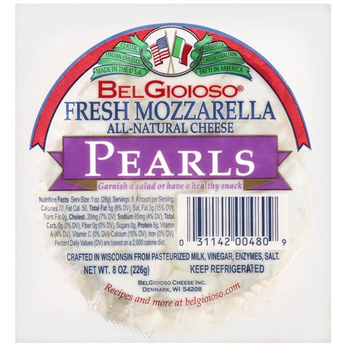 BelGioioso Fresh Mozzarella Pearls, 8 Ounce Ball