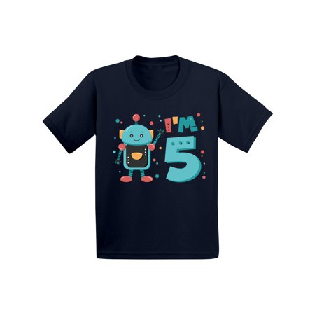 Awkward Styles 5th Birthday Toddler Shirt Robot Birthday Shirt Gifts for 5 Year Old Fifth Birthday Shirt 5th Year Old Shirt My 5th Birthday Gifts for Birthday Boy Birthday Gifts - Christmas Gifts For 5 Year Old Boy