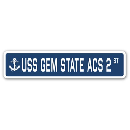 USS GEM STATE ACS 2 Street Sign us navy ship veteran sailor gift