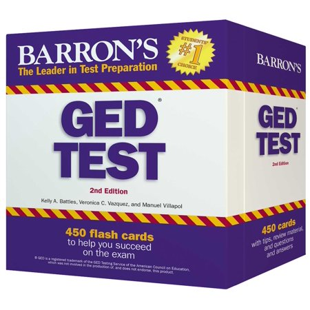 Barron's GED Test Flash Cards : 450 Flash Cards to Help You Achieve a  Higher Score