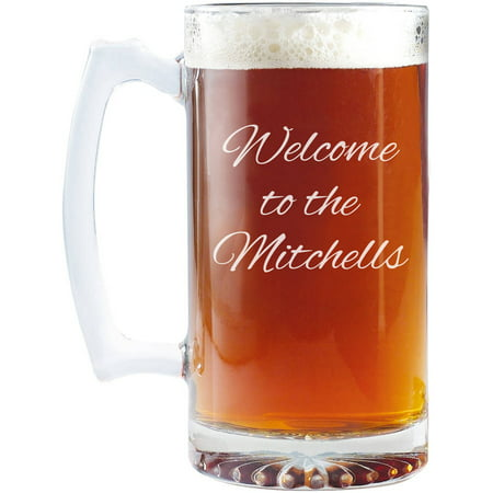 personalized create your own oversized beer mug 25 oz script