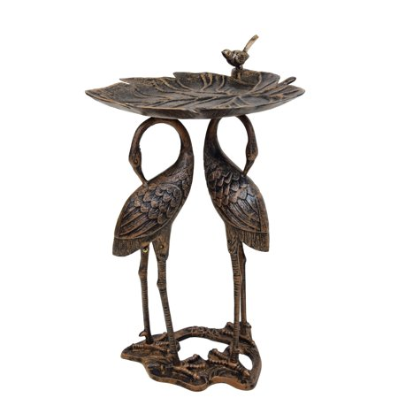 Bronze Frogs Lily Pad - Oakland Living Corporation Bronze Aluminum, Iron and Metal Lily and Cranes Bird Bath