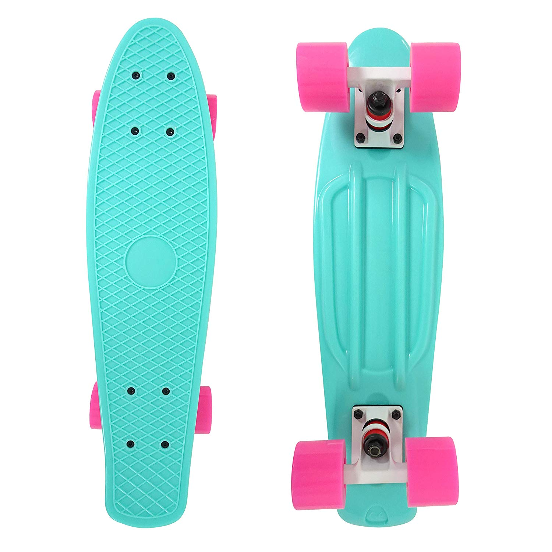 NEW 2020 22/'/' LED Skateboard Complete Outdoor Street Long Board Kids Penny Style