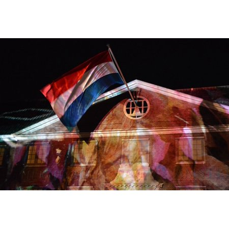 Canvas Print Netherlands Hermitage Light Festival Amsterdam Flag Stretched Canvas 10 x - Amsterdam Halloween Festival