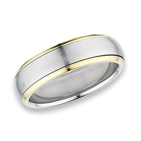 Spinner High Polish Gold-Tone Wedding Ring Stainless Steel Band Size 12