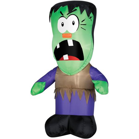 Halloween Inflatable - Lighted Monster Kid - 3.5 ft tall - When Did Halloween Start For Kids