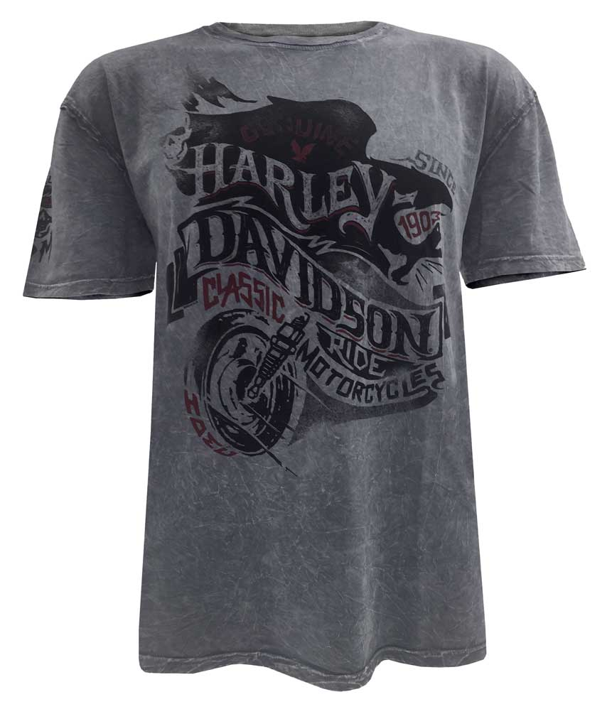 Harley-Davidson Men's End of the Road Short Sleeve Washed T-Shirt 5J31-HB7J by VF