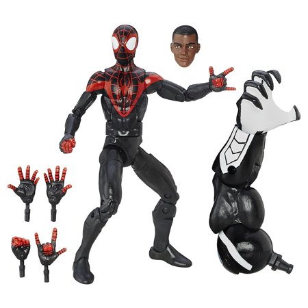 Marvel 6-inch Legends Series Ultimate Spider-Men: Miles Morales, Aluminum Memory GLDUCT25C Black Hasbro Albums Morales Infinite SpiderMen Fixture Highly Pack 12 15.., By Spider-Man Ship from - Black Spiderman Mask For Sale