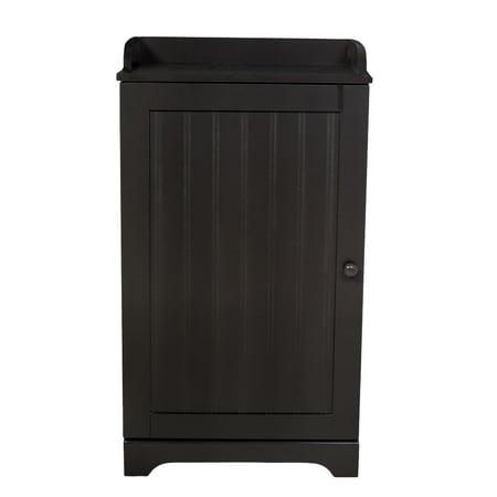 - Free Standing Espresso Bathroom Floor Storage Cabinet Organizer Adjustable Shelf