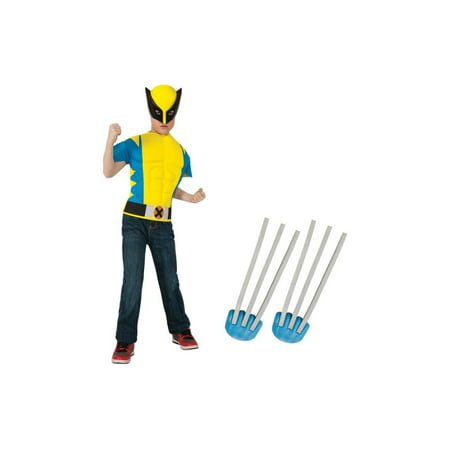 Wolverine Boys Muscle Shirt and Claws Boys Costume Set](Fake Wolverine Claws)