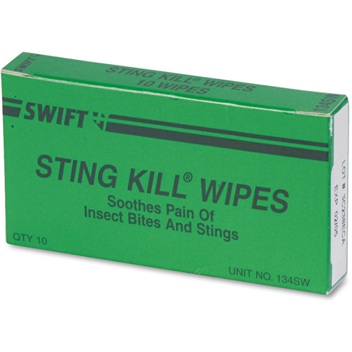 PhysiciansCare Swift Sting Kill Wipes, 10 count