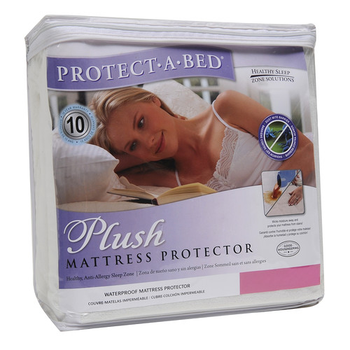 Protect-A-Bed Cotton Plush Fitted Sheet Style Mattress Protector