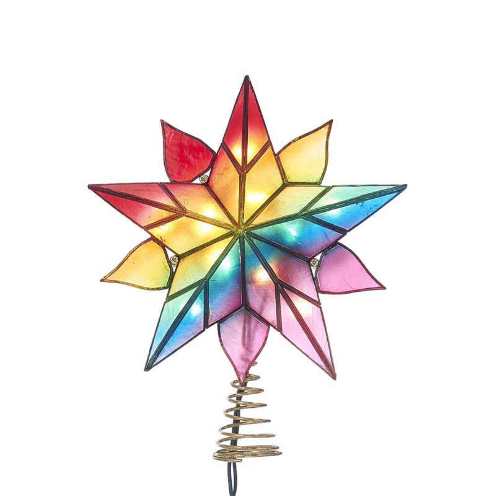 Kurt S. Adler 10 Light Capiz Star Tree Topper