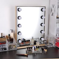 """Yescom 26"""" Hollywood Makeup Vanity Mirror with Dimmable LED Lights Tabletop Aluminum Stage Mirror Color Opt"""