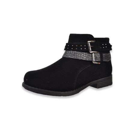Eddie Marc Girls' Double Buckle-Strapped Ankle Boots (Sizes 11 - (Marc By Marc Jacobs Biker Buckle Booties)