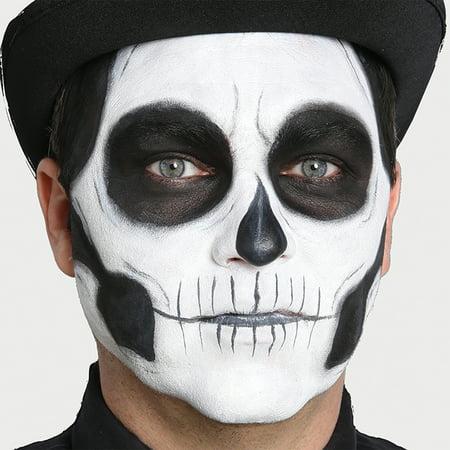 Skeleton Makeup Kit (Day of the Dead Skeleton Skull 7pc Special Effects Kit, White)