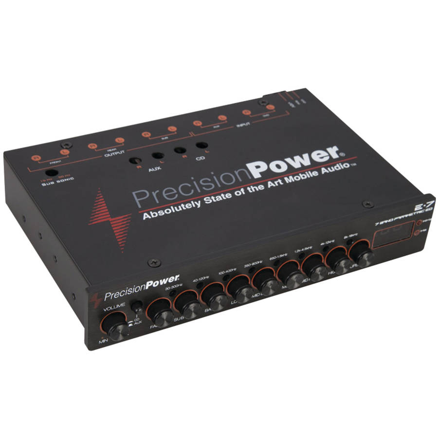 Precision Power E.7 Half-DIN 7-Band Parametric Equalizer with LED Display