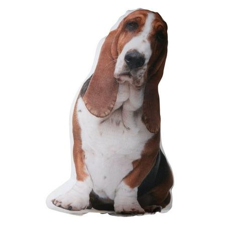 Plump Puppy Photo-Realistic Throw Pillow - Basset Hound
