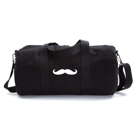 Mustache Army Sport Heavyweight Canvas Duffel Bag](Italian Mustache)