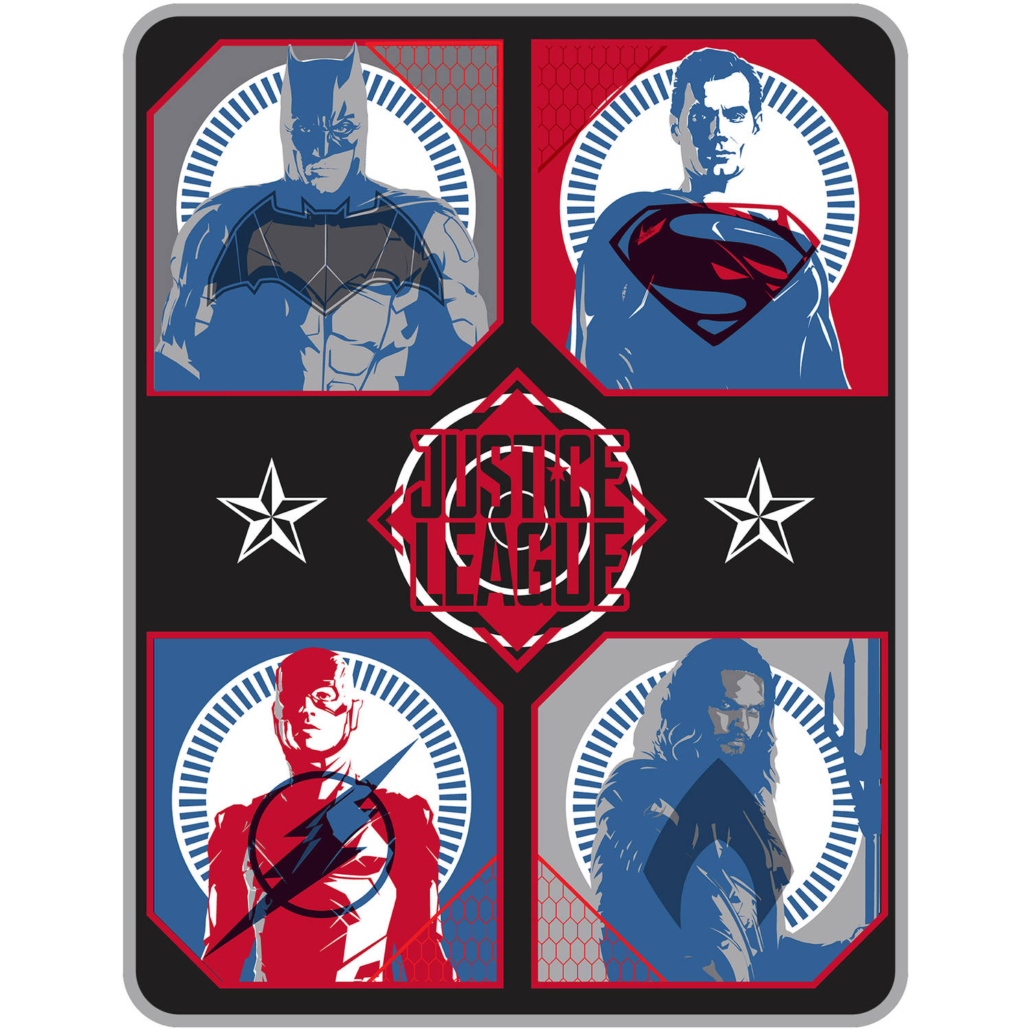 Justice League Movie 'Team Assembled' Kids Bedding Throw
