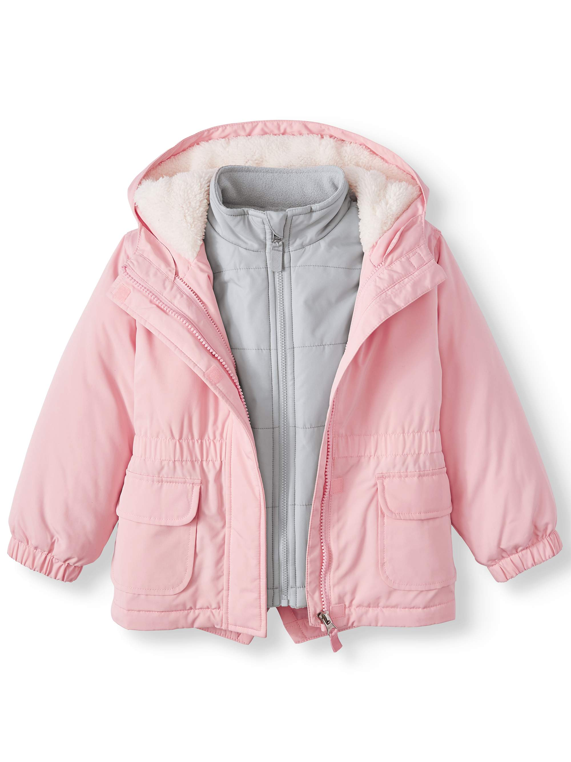 Wonder Nation Toddler Girl 3-in-1 Systems Jacket Coat