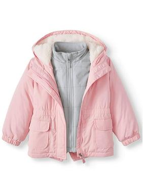 Wonder Nation Toddler Girl 3-in-1 Systems Jacket Coat