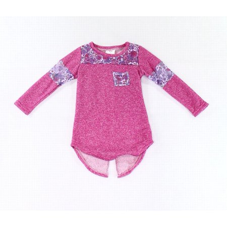 Baby Girls Floral Lace Inset Tunic Sweater 4T