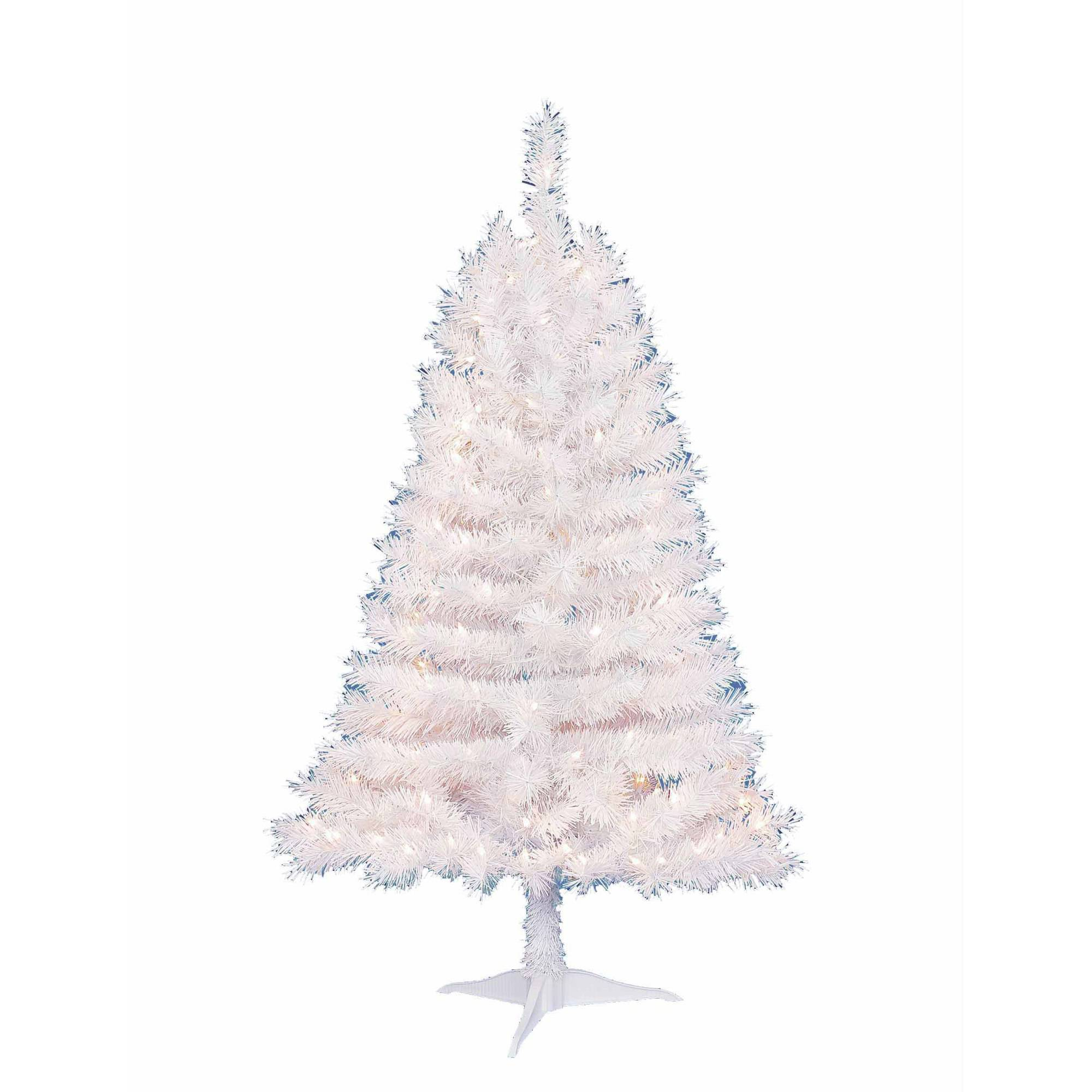 Holiday Time Pre-Lit 4\' Indiana Spruce White Artificial Christmas ...