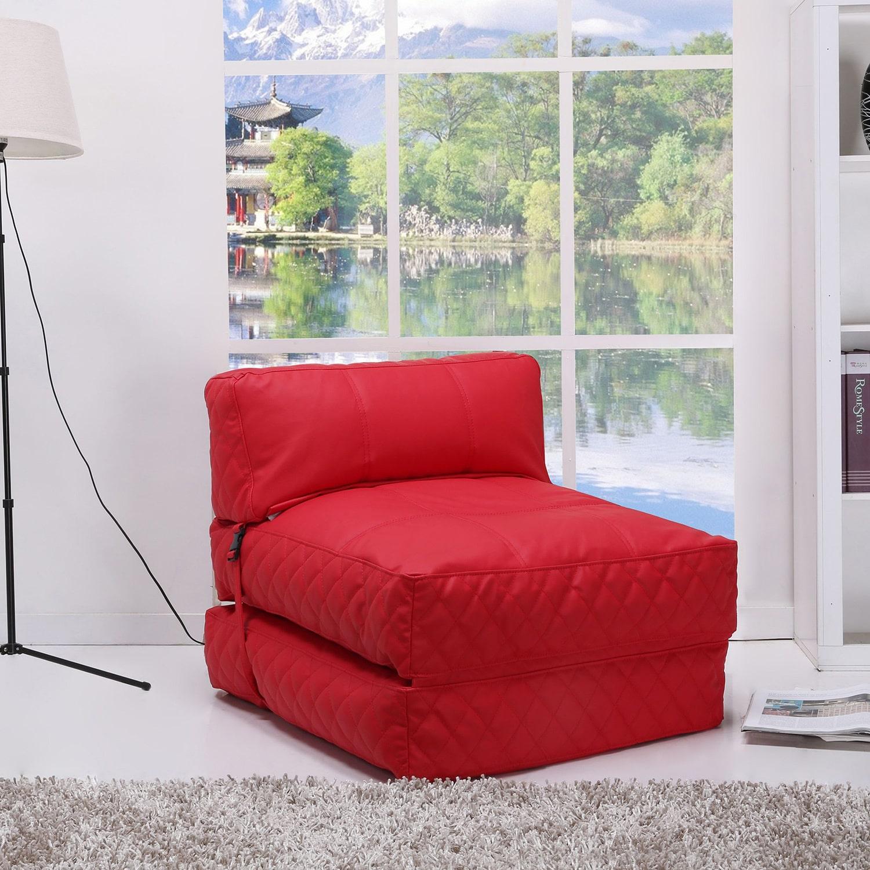 Gold Sparrow Austin Red Bean Bag Chair Bed