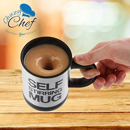 Self Stirring Coffee Mug, 8 oz Stainless Steel Automatic Self Mixing ...