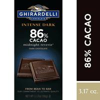 Ghirardelli Intense Dark Chocolate Bar - 86% Cacao – 3.17 oz.