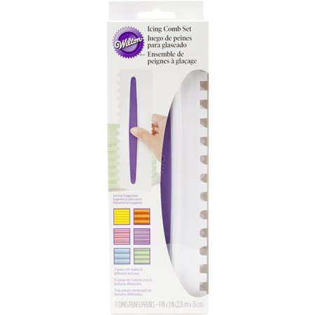 - Wilton Icing Comb Set, 2 Designs 3 pc. 417-1154
