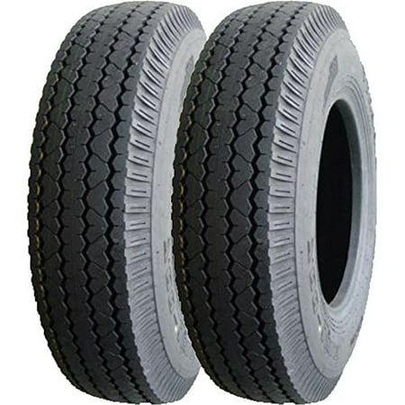 Set of 2 New DuroTrac Heavy Duty Trailer Tires 205/90D15 / 7.00-15 8 Ply Load Range D - 11066 - Heavy Field Load