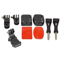 Ultimaxx Heavy Duty Helmet Extension Curved Arm Mount Kit, 3M Adhensive with Buckles, For All GoPro Hero Cameras