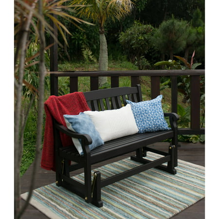 Better Homes and Gardens Delahey Outdoor Porch Glider Bench, Dark Brown,  Seats 2 - Walmart.com - Better Homes And Gardens Delahey Outdoor Porch Glider Bench, Dark