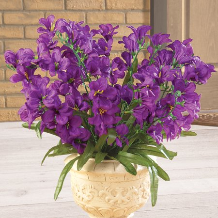 Tree Orchid Artificial Flower Arrangement Bouquet Bush - Set of 3