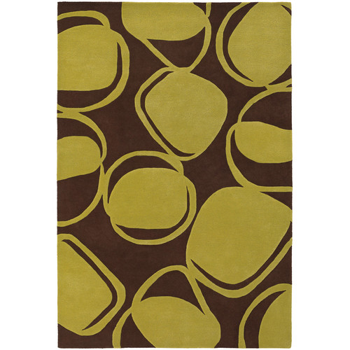 Chandra Rugs Inhabit Designer Brown/Green Area Rug