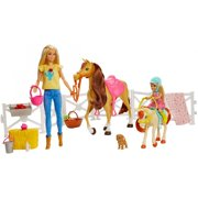 Barbie Hugs 'N' Horses Playset with Barbie & Chelsea Dolls, Blonde
